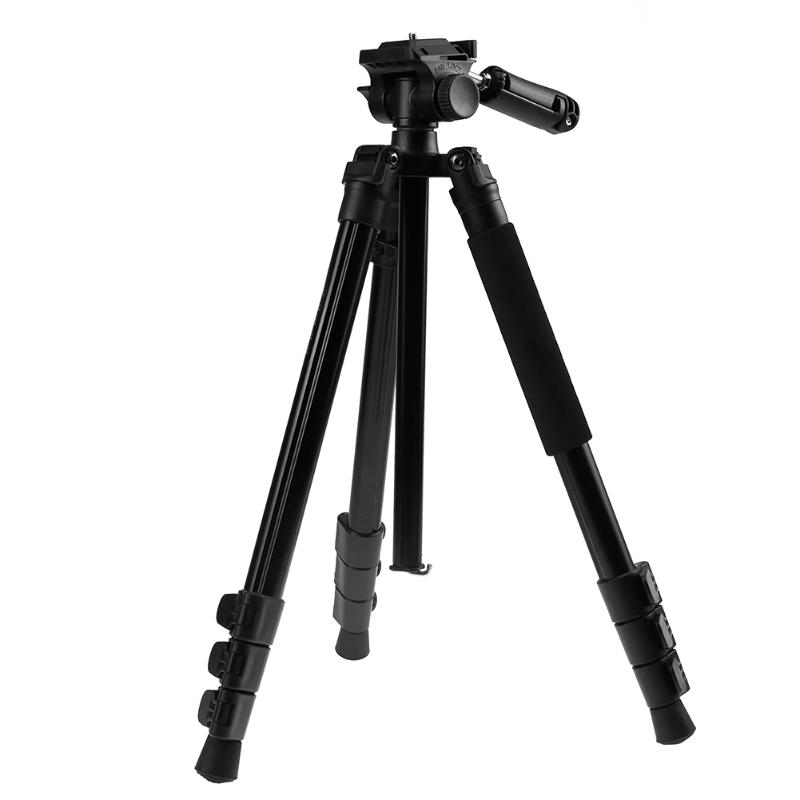 BT-158 Aluminium Alloy 1460mm Camera Video Monopod Professional Extendable Tripod SLR DSLR Holder Stand with Carry Bag aluminium alloy professional camera tripod flexible dslr video monopod for photography with head suitable for 65mm bowl size