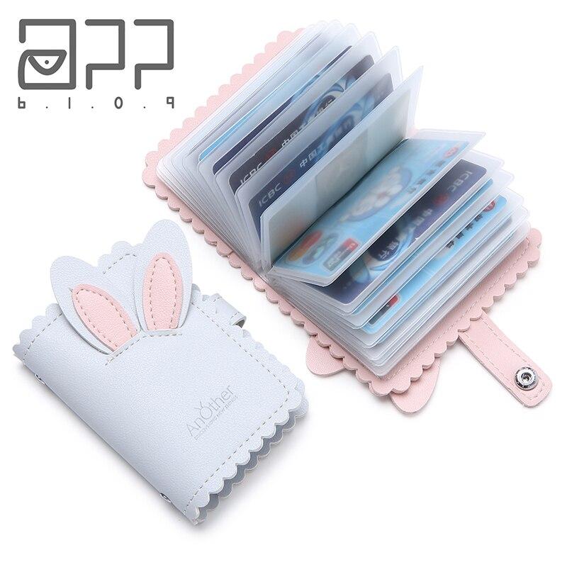 APP BLOG Brand Function 24 Bits Card Case Business Card Holder Men Women Credit Passport Card Bag ID Passport Card Wallet 2019