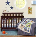 Ups Free 7 Pcs Cartoon Dog Baby Bedding Set Baby cradle crib cot bedding set cunas crib Quilt Sheet Bumper Bed Skirt Included