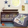 Ups Free 7 Pcs Cartoon Dog Baby Bedding Set Baby cradle crib cot bedding set cunas crib Quilt Sheet Bumper Bed Skirt Included