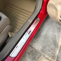 Car DOOR SILL PANEL SCUFF PLATE STEP COVER TRIM PROTECTOR FOR HONDA CIVIC 2016 2017
