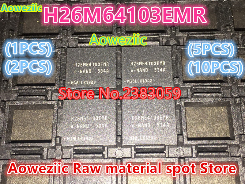 Aoweziic (1PCS) (2PCS) (5PCS) (10PCS) 100% New original  H26M64103EMR  H26M64103  BGA  32G  EMMC font chip 1pcs 2pcs 5pcs 10pcs 100% new original klmbg4webc b031 bga emmc 32gb memory chip klmbg4webc b031