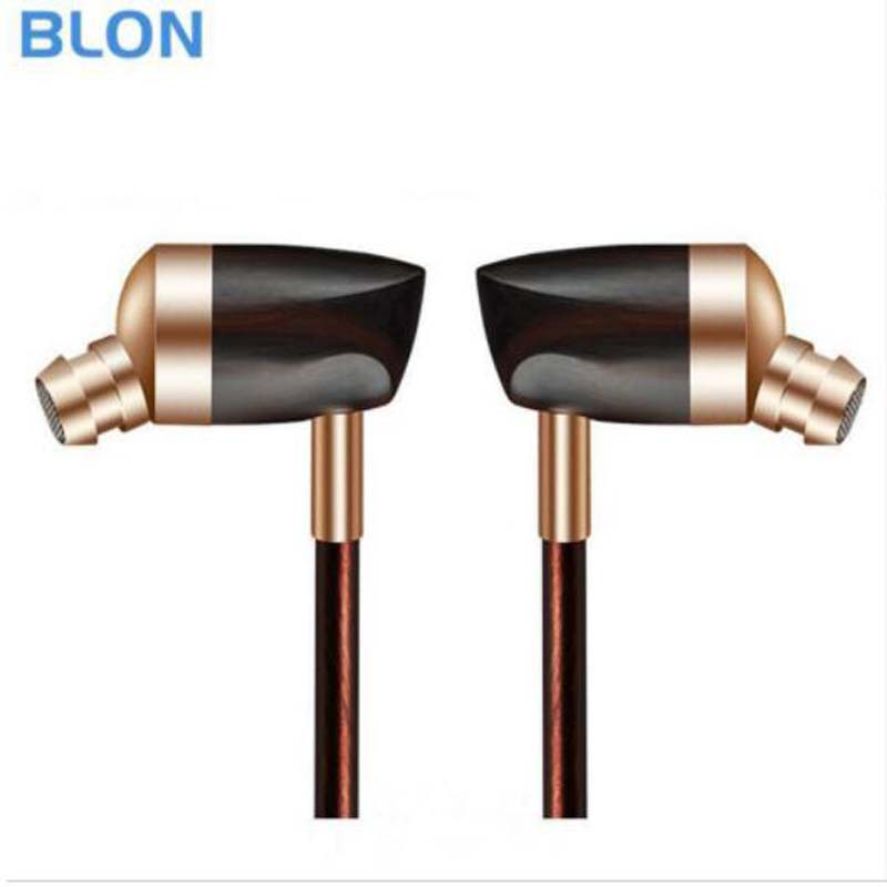 BLON B3 Dynamic and Armature 2 unit Wood Earbuds HIFI Ebony Moving Iron&Coil In Ear Earphone DIY Wooden Headset