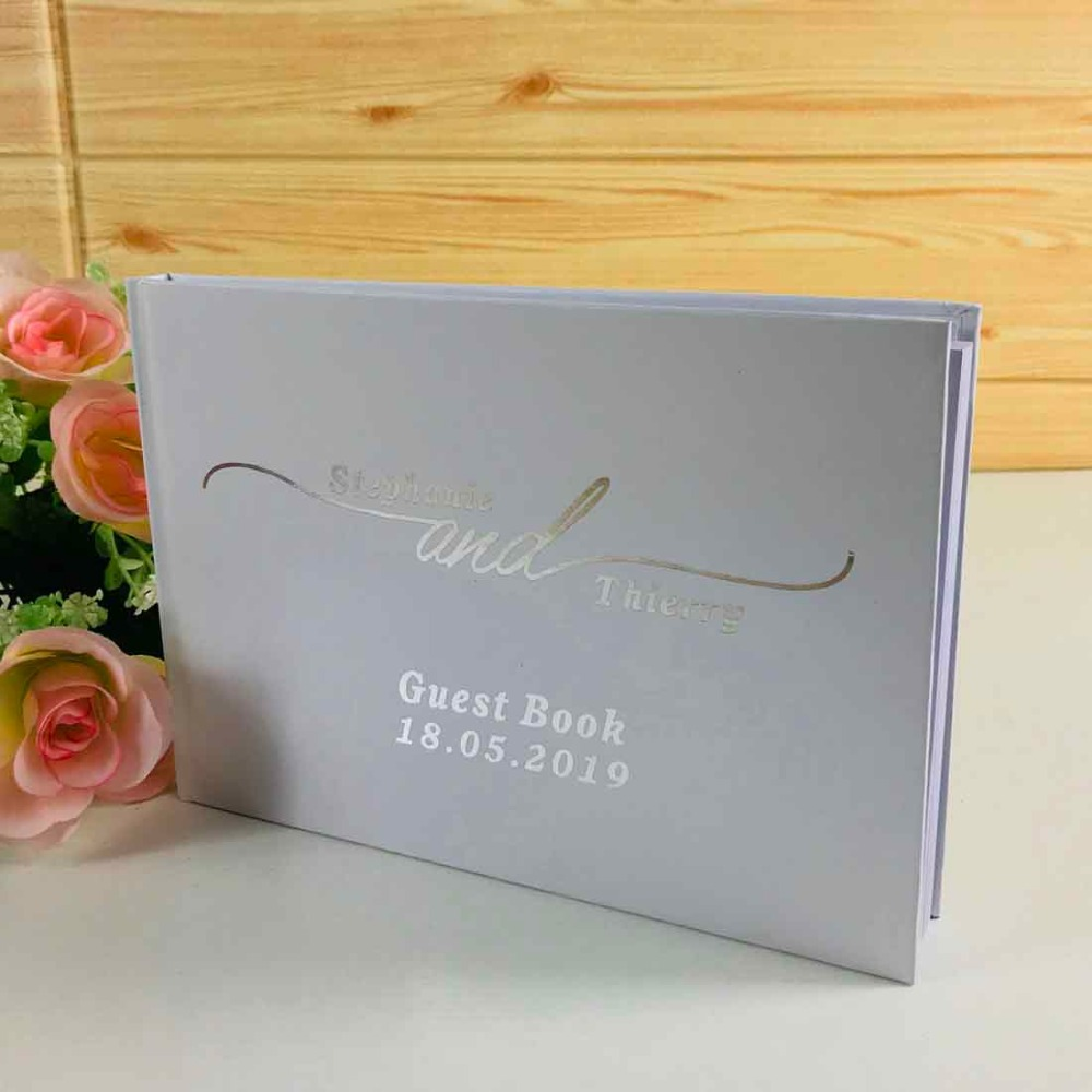 GB 167 Color Choices Available Wedding Guest Book Rose Gold Wedding Guest Book Personalised Guest Book Custom Wedding Guestbook