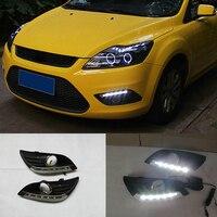 2Pcs/set Waterproof Car LED DRL For Ford Focus 2 MK2 2009 2010 2011 DRL Driving Daytime Running Light