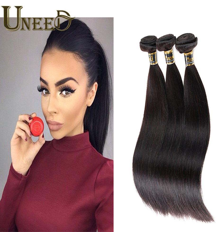 Queen Beauty Weave 100g/pc Brazilian Straight Hair Bele Virgin Hair Weave Cheap Hair Bundles 4Pcs Brazilian Virgin Hair Straight