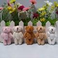 Плюшевый мини-мишка тедди 6 см, длинный шерстяной маленький медведь, мягкие игрушки-животные, плюшевые подвески для брелока, искусственное к...