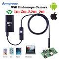 Iphone Эндоскопа HD 1 м 2 м 3.5 м 5 м Wifi Эндоскоп 8 мм 720 P Бороскоп Водонепроницаемая Камера Endoscopio Android iOS Wi-Fi Endoskop