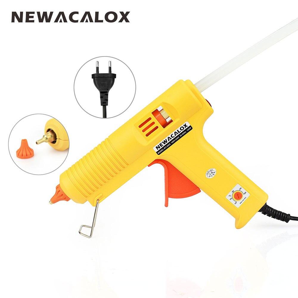 NEWACALOX Industriale 150 w Spina di UE Hot Melt Pistola di Colla con 1 pz 11mm Bastone di Calore Strumento di Temperatura Pistole termo Gluegun Strumenti di Riparazione