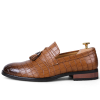 Classic Patent Leather Oxfords Dress Shoe Brogues Style Elegant Male Moccasins Genuine Quality Designer Luxury Brand