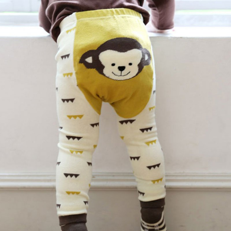 Carton Animal PP Pants Toddler Bottoms Set Boy Girls Baby Cartoon Print Legging Warm