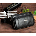 New Men Genuine Leather Cowhide Waist Pack Travel Fashion Hip Bum Cell Phone Case Purse Money Bag Pouch Male Fanny Belt Pack