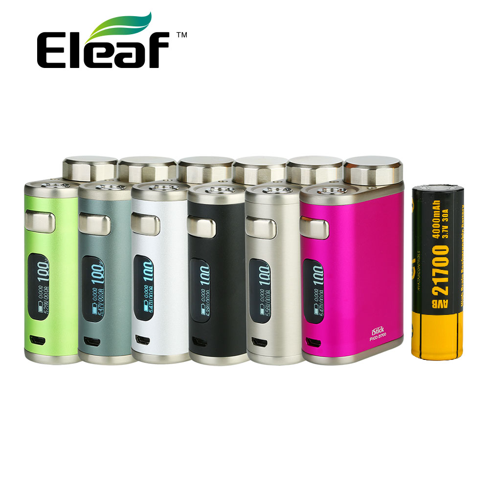 Original Eleaf IStick Pico 21700 Mod Battery 4000mah Huge Power 100W istick Pico Match 18650 Battery & 21700 Battery Vape Mod цена и фото