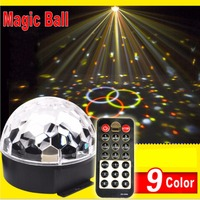 6 LED Remote Control Crystal Magic Ball Led Stage Lamp KTV Disco Laser Light Party Lights
