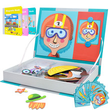 DIY Three-dimensional Magnetic Book Puzzle Children Early Education Puzzle Toys Early Education Kids Enlightenment Toy baby simulation camera toy children cartoon projection light music toy kids early education puzzle supplies toys