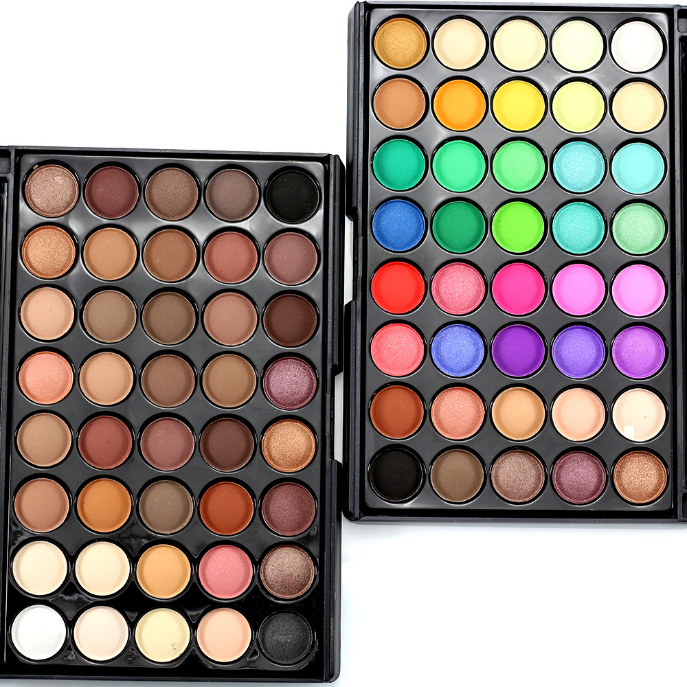 Beauty & Health Steady Elecool 40 Colors Glitter Eye Shadow Palette Earth Warm Luminous Makeup Palette Pressed Powder Cosmetic Eye Shadow Pearl Tslm2