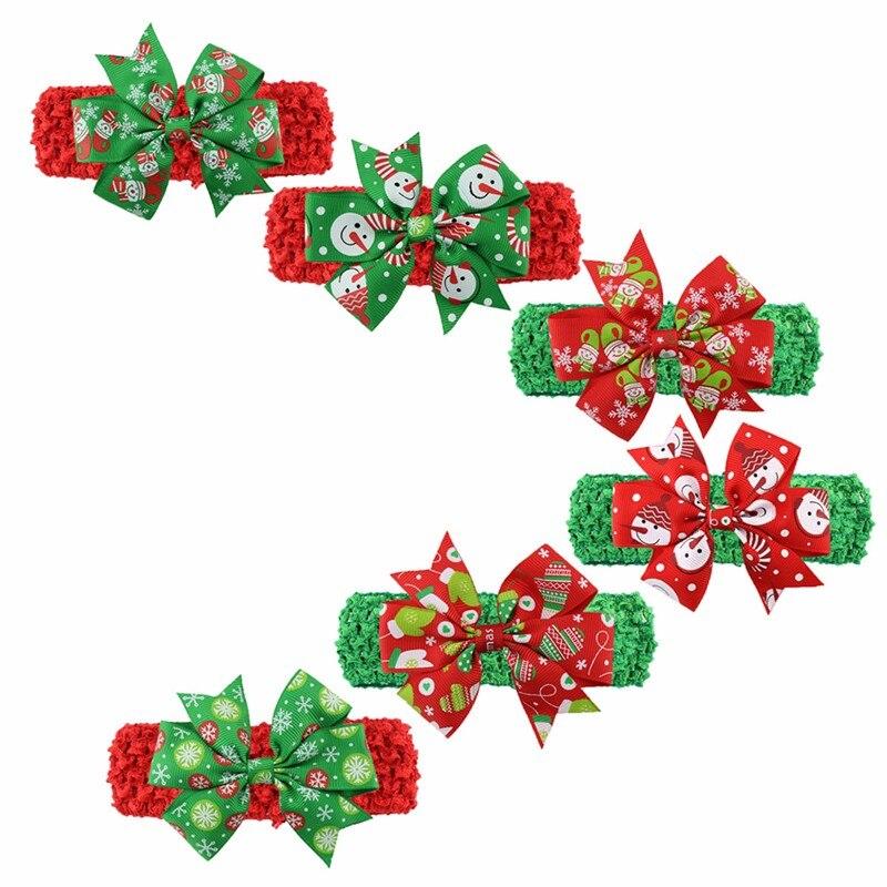1Pc Christmas Head Ornaments Boys Girls Silk Fish Tail Hair Cute Accessories