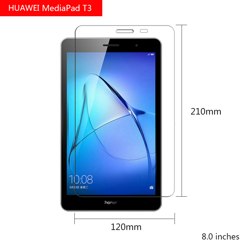 Tempered Glass for Huawei Media Pad T3 8 Inch High Clear Screen Protector For Huawei Tablet Tempered Film For Pad screen protector for moto x4 high sensitivity clear premium tempered glass