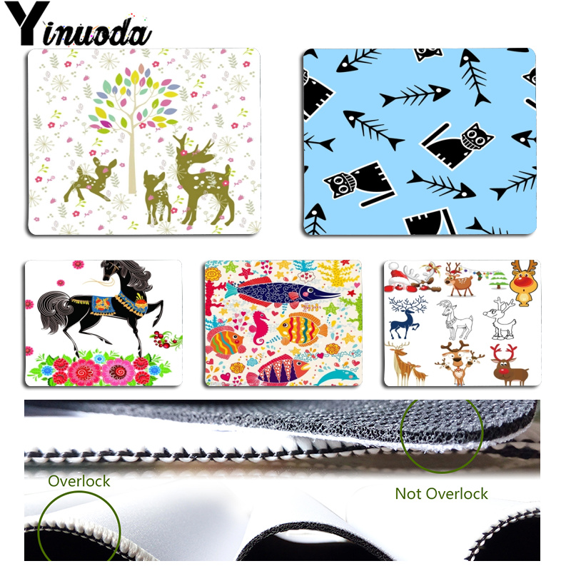Yinuoda Top Quality Cartoon fish horse and deer Customized laptop Gaming mouse pad Size for 18cmx22cm and 25cmx29cm Mousemats