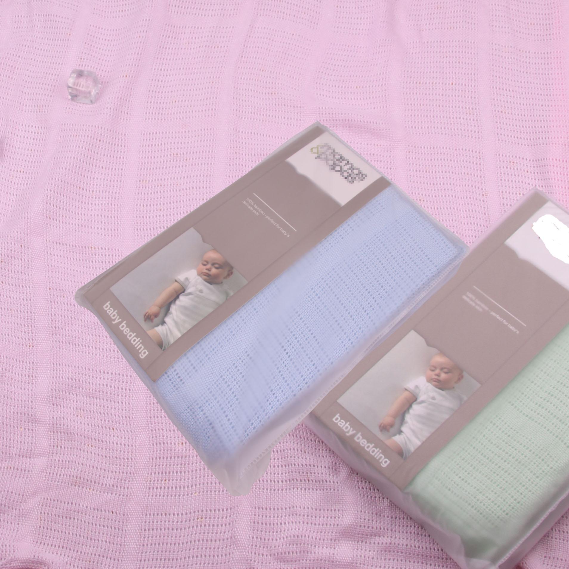 Couverture de bébé cellulaire douce pépinière bébé couverture de bambou couverture de bébé tricoté nouveau-né lange d'emmaillotage infantile respirant bébé literie