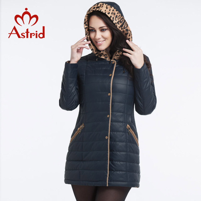 Astrid 2017 New Women's Winter Jacket Casual Fashion Women Parkas High-Quality Female Coat Leopard Hooded Parka L-5XL AM-1275