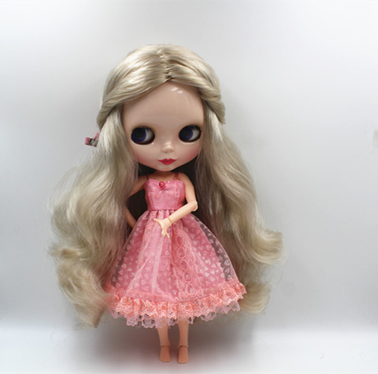 Blygirl Blyth doll Light golden hair 30cm naked baby body joints body 19 joints can be rotated to send hand group blygirl blyth doll golden wave curls doll no 31bl74 joints body 19 joints normal skin the hand can be rotated
