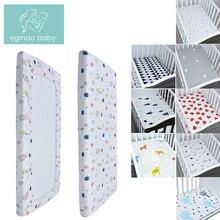 EGMAOBABY100% хлопок постельное белье для детской кроватки простыня мягкий матрас для детской кровати чехол с мультяшным принтом для новорожденных постельные принадлежности для кроватки простыня