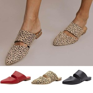 Women Sandals Pointed Toe Lazy Slippers Casual Flat Retro Mules Comfort Sandals Summer Female Soft Beach Flat Shoes C50#(China)
