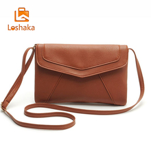Loshaka PU leather Women Envelope Messenger bags Slim Crossbody Shoulder bags Handbag Small Crossbody bags Satchel Ladies Purses