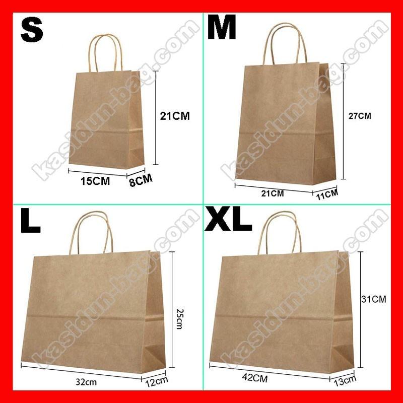 (500cs lot) logotipo personalizado saco de presente de papel com alças