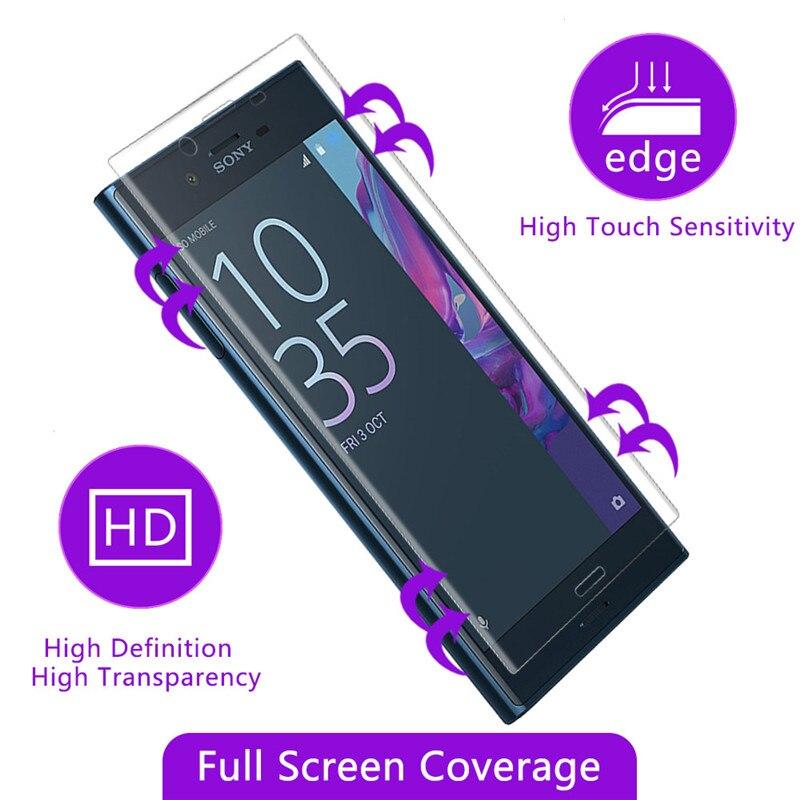 Qosea Pour Sony Xperia X Compact Écran Protecteur 9 H Trempé verre Électrolytique 3D Clear Guard Avant Plein Film Cas Pour Compact