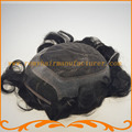 Free Shipping base of 7*9inch 100% remy hair toupee invisible knot french lace with pu mens hair replacement