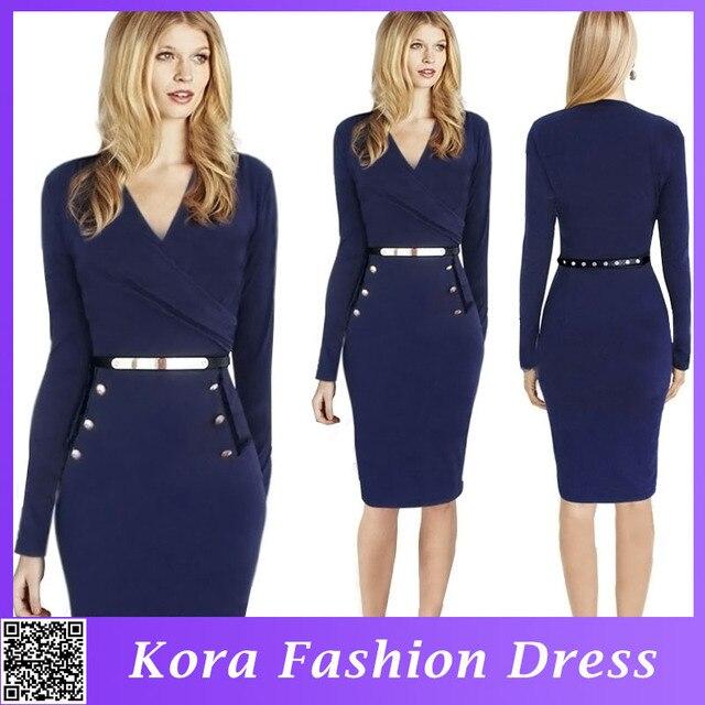 4f5295c9d8d Women s Clothing American Apparel Vestidos Plus Size Cotton Casual Ladies  Office Wear 2015 Autumn Dresses Black Color S-XL Size