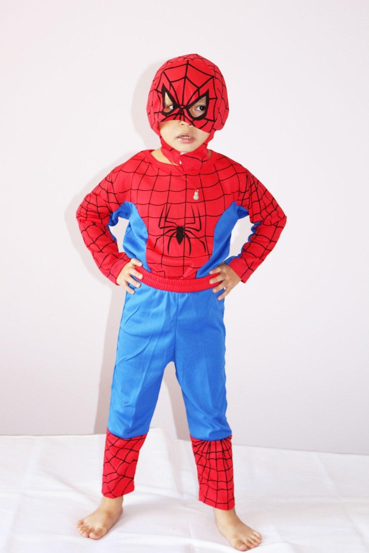 1 il - 7 il Halloween Party Cosplay geyimləri oğlan hörümçək - Karnaval kostyumlar - Fotoqrafiya 4