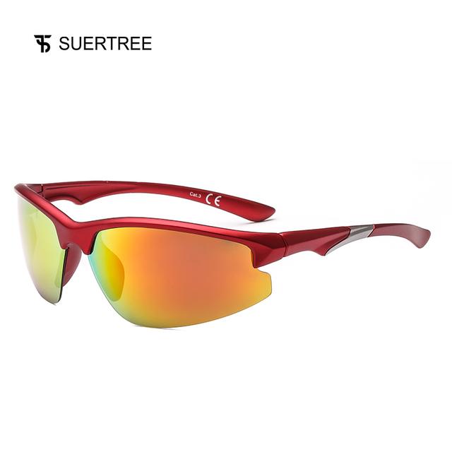 SUERTREE Sport Polarized Sunglasses Men Outdoor Mountain Fishing Sun Glasses MTB Driving Eyewear UV400 JH6005