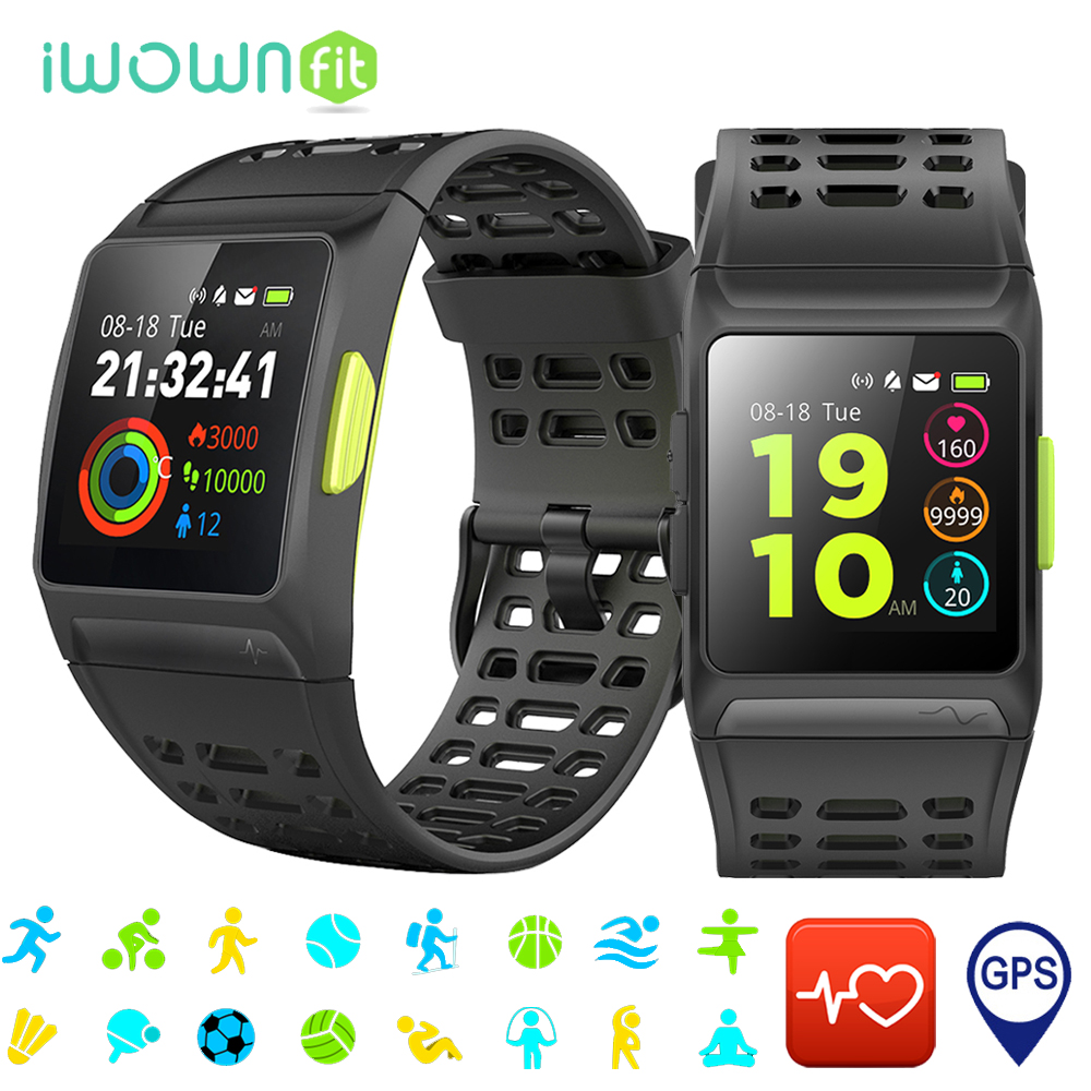 iWOWNfit Smart Watch GPS IP67 Waterproof Heart Rate Monitor Smart Watch Men Multiple Sport Mode for IOS Android Phone