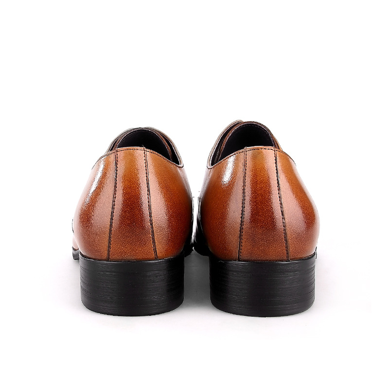 QYFCIOUFU 2019 Handmade Italian Vintage Formal Shoes Designer Wedding Party Male Dress Shoe Genuine Leather Men Oxford Shoes in Formal Shoes from Shoes