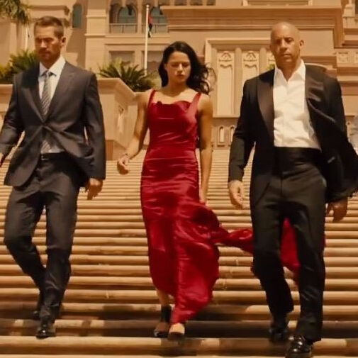 Michelle Rodriguez Red Backless Gown In Movie Fast And Furious 7 Evening Dresses Celebrity Dress Dress 0 Dress Evening Gownsgown Couture Aliexpress
