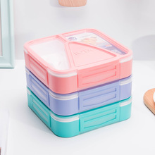 Portable Picnic School Sealed Food Storage Container Leakproof Lunch Box Microwavable Bento Kitchen Accessories