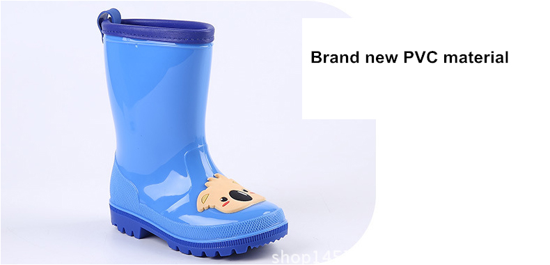 4.Rain Boots Kids for Boys Girls Rain Boots Waterproof Baby Non-slip Rubber Water Shoes Children four Seasons Rainboots.