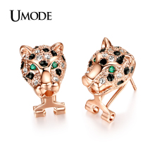 UMODE Brincos  Rose Gold Plated Animal Shaped Austrian Rhinestones Drop Earrings For Women Fashion Hot Sale Jewelry AJE0010