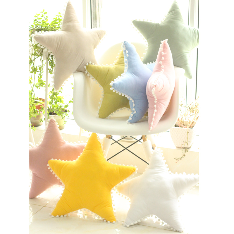 1pc 45cm Cartoon Star Plush Pillow Stuffed Sofa Bed Decoration Star Cushion Children Gift