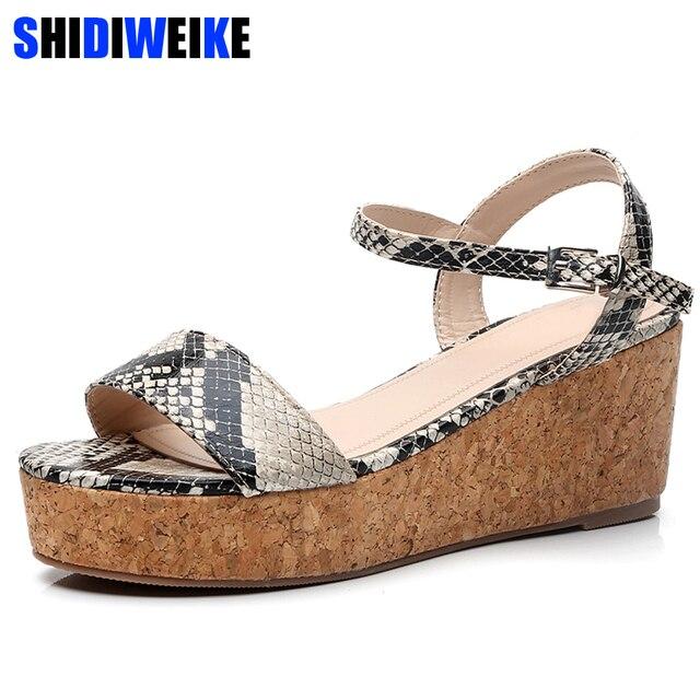 Mujeres G295 Plataforma Sandalias Gladiador Zapatos Moda Casuales Verano Cuñas Negro Peep Las Mujer Toe De 2019 La N0nm8w