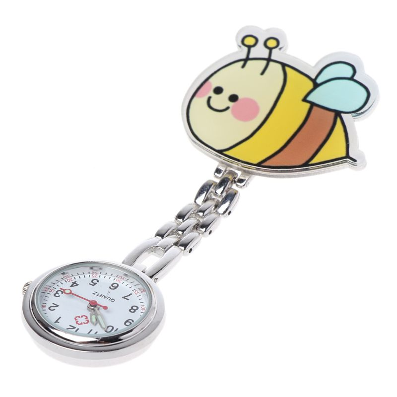 Fashion Nurse Watch Newly Pocket Watches Acrylic Chest Hang Clip Portable Silver Charm Jewelry Women Lady Gifts