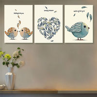 coloring by numbers Love and dream modular painting cartoon birds digital paint by numbers diy digital painting
