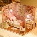 Diy Casa de Boneca Quarto Casa de Bonecas Em Miniatura Casa de Sonho Kit Modelo de Casa De Boneca De Madeira Casa de Brinquedo Miniaturas De Móveis Para Crianças