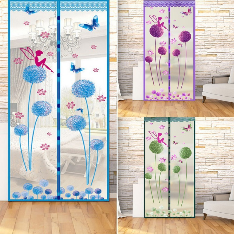 Prevent Anti Mosquito Screen Encryption Magnet Moskito Net Curtains Cloth Door Curtain Screen Magnet Moustiquaire Gate 3 Colors