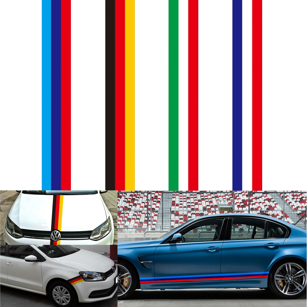 15cm 100cm auto hood decal car body national flag car stickers and decals for bmw