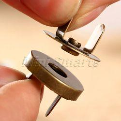 10 ensembles sac à main fermoirs boutons de couture magnétique métal boutons-pression attaches sac à main artisanat couture cuir manteau boutons 14mm/18mm