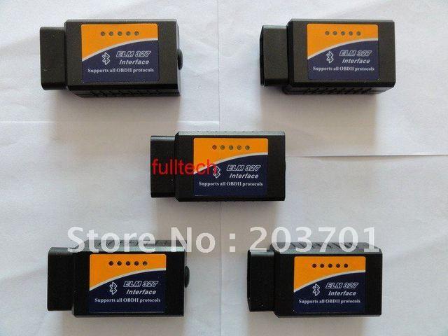 Works On Android Torque V1.5 elm327 bluetooth ELM 327 Interface OBD2 / OBD II Auto Car Diagnostic Scanner OBDII